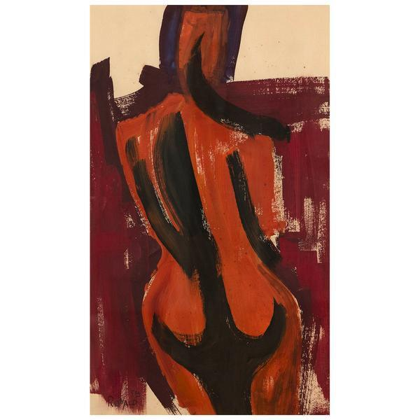 William Ronald, 'The Figure', 1958, Painting, Gouache on paper, Caviar20