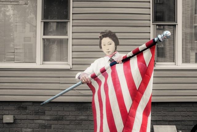 , 'American flag,' 2015, Space 776