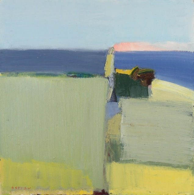 , 'Salmon and Sea,' 2018, Meyer Vogl Gallery