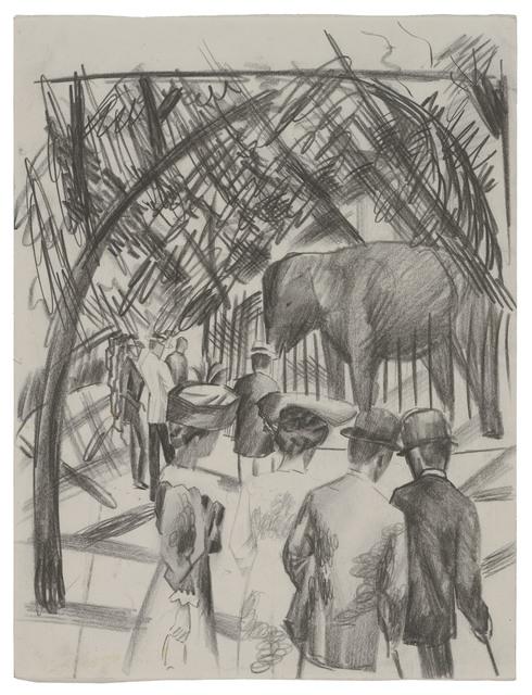 , 'Beim Elefanten (groß),' 1913, Ludorff