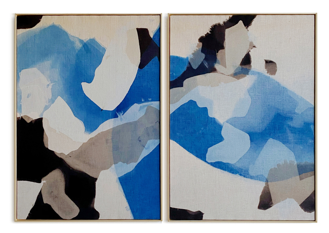 Carrie Crawford, 'All In', 2020, Painting, Indigo, logwood, oak gall, acorn, iron, and black walnut dye on linen, Uprise Art