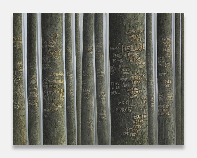 , 'Dark Trees (Hello!),' 2014, Tanya Leighton