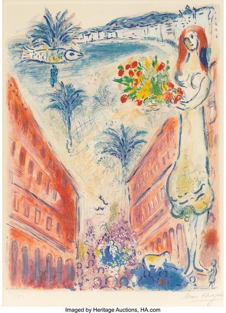 Marc Chagall, 'Avenue de la Victoire à Nice, from  Nice et la Côte d'Azur', 1967, Heritage Auctions