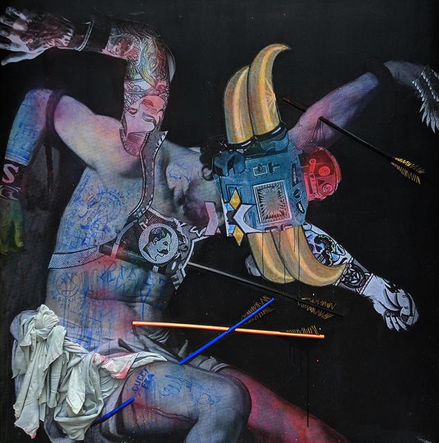 Stikki Peaches, 'Fallen Hero (Goldorak)', 2018, Galerie LeRoyer