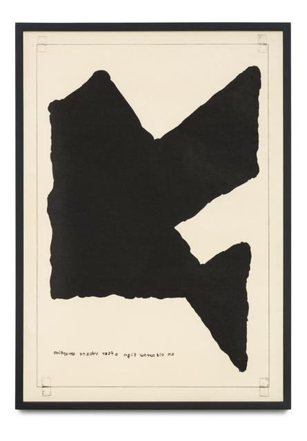 , 'Untitled (An Old Arrow Sign After Volcano Eruption),' 2016, STPI