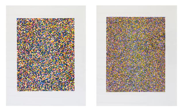 , 'A Half Times A Half Times A Half (Coarse) / A Half Times A Half Times A Half (Fine),' 2008, bromer kunst