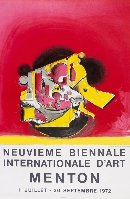 Graham Sutherland, 'Neuvieme Biennale Internationale D'art Menton (two posters)', 1972, Print, Two lithographs printed in colours, Forum Auctions