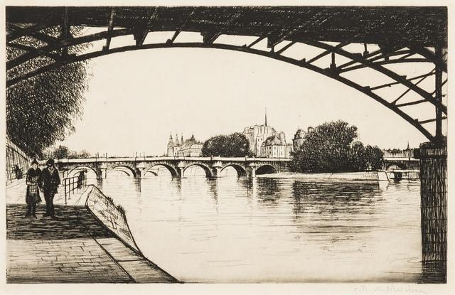 Christopher Richard Wynne Nevinson, 'La Cité, Paris (Black 114)', 1926-1927, Print, Etching, Forum Auctions