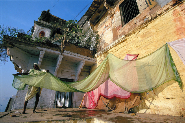 , 'Drying Saris at the Ghats, Varanasi, India,' , Pucker Gallery