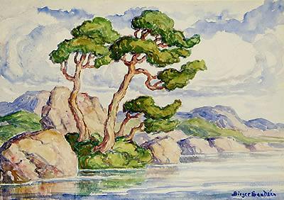 Birger Sandzén, 'Trees Along a River-Estes Park Colorado', 1920, Kiechel Fine Art
