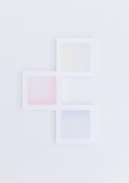 , 'Untitled (3 Parts of the Composition with Stretchers and 3 Colours),' 2018, Galería Combustión Espontánea