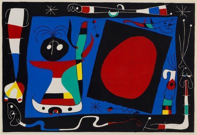 Joan Miró, 'La Femme Au Miroir [Mourlot 242]', 1956, Roseberys
