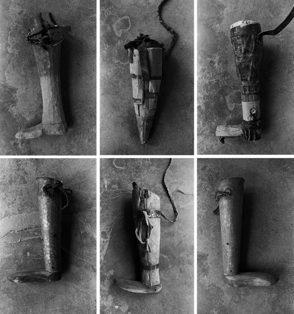 , 'Prosthetics made at home by villagers who had lost limbs before receiving access to the Red Cross. International Committee of the Red Cross Prosthetic Centre. Mazar-i-Sharif. Afghanistan,' 2008, Stephen Bulger Gallery