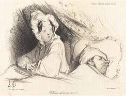 Honoré Daumier, 'Vilain dormeur, va!', 1838, National Gallery of Art, Washington, D.C.