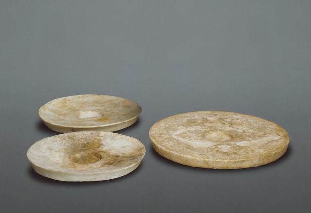 'Three Fishplates',  4th century B.C., J. Paul Getty Museum