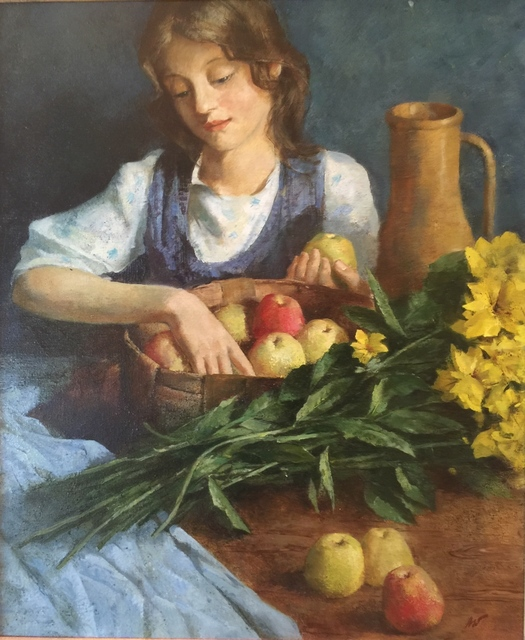 , 'Girl With Apples,' , Cosmopolitan Fine Arts