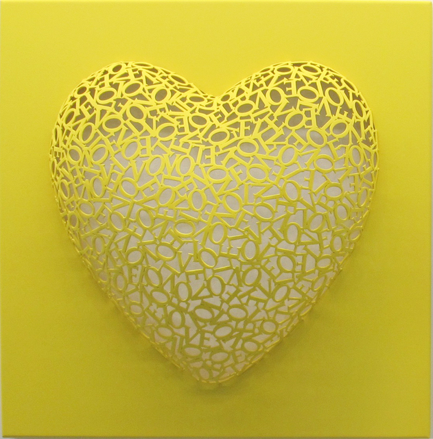 , 'Love-Love (Yellow, matte),' 2016, BLANK SPACE