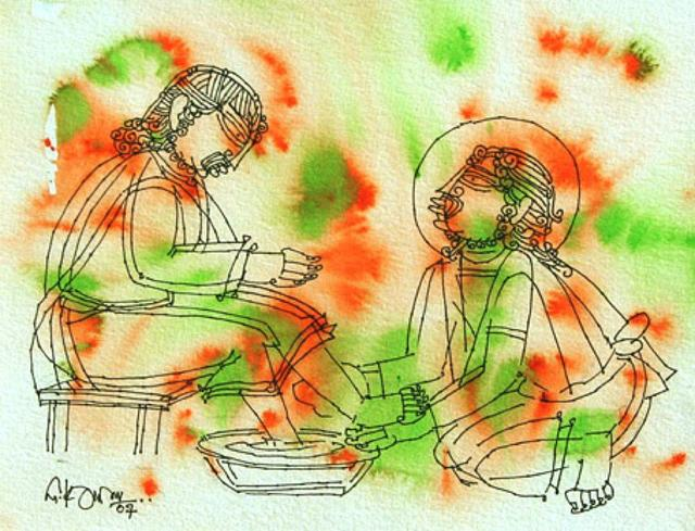 , 'Christ washing feet,' 2007, The Noble Sage Collection
