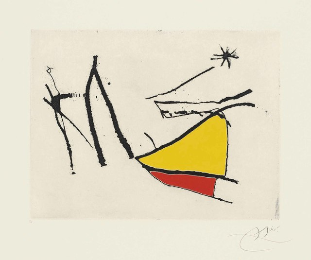 Joan Miró, 'Plate 28 from: Càntic del Sol', 1975, Christie's