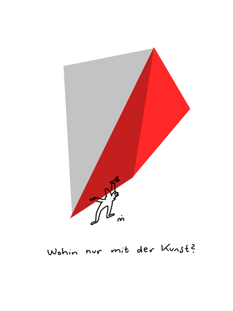 , 'Wohin mit der Kunst II,' 2018, Galerie Floss & Schultz