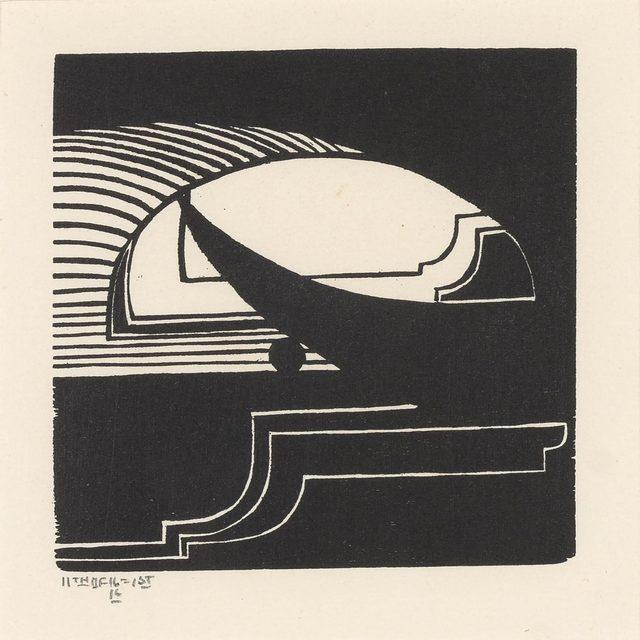 John Storrs, 'Romantic Night (Eagle) (Frackman 31)', 1916, Print, Woodcut, on Rives BFK, Doyle
