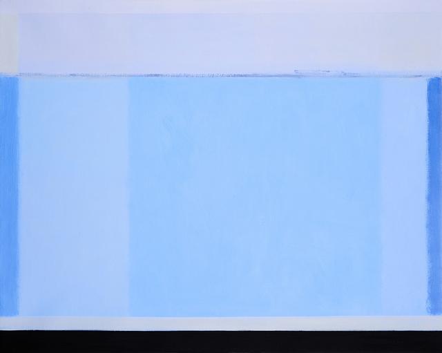 , 'Blue Field, Port Melbourne,' 2017, Charles Nodrum Gallery