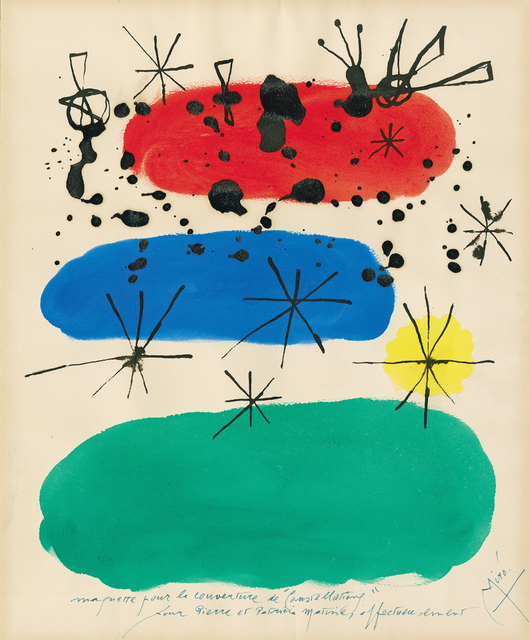 ", 'untitled - draft for the book cover ""Constellations"",' 1959, Galerie Boisseree"