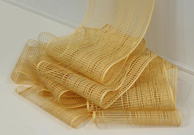 Jill Sylvia, 'Untitled (Vertical Ledger, Yellow)', 2010, Sculpture, Hand-cut ledger paper, Eleanor Harwood Gallery