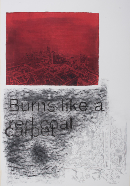 , 'Red Carpet,' 2018, Parafin