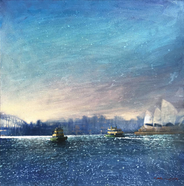 , 'Sydney Ferry Sunset,' 2019, Wentworth Galleries