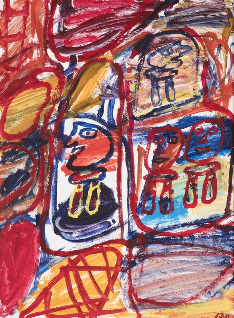 Jean Dubuffet, 'Site Avec 4 Personnages', 1981, Drawing, Collage or other Work on Paper, Acrylic on paper, Stern Pissarro