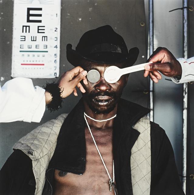 Mikhael Subotzky, 'Joseph Dlamini (Eye Test), Matsho Tsmombeni Squatter Camp, South Africa', 2005, Sotheby's