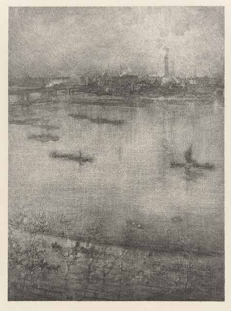 , 'The Thames,' 1896, de Young Museum