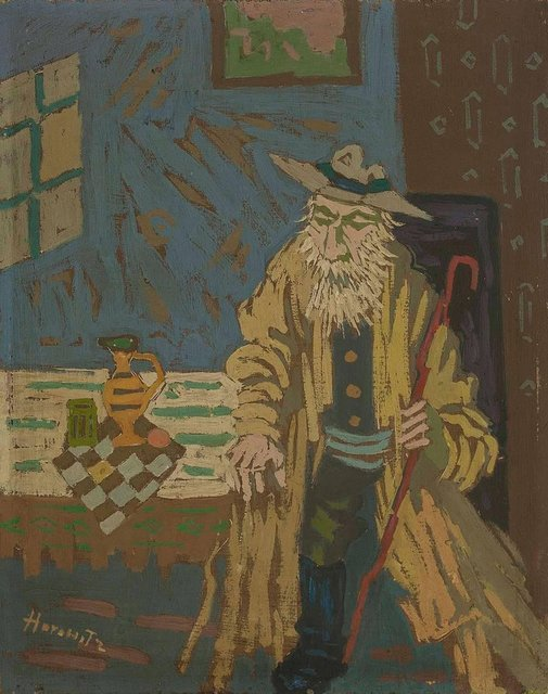 Peter Horowitz, 'Jerusalemite at the Table, Judaica Oil Painting', Mid-20th Century, Lions Gallery