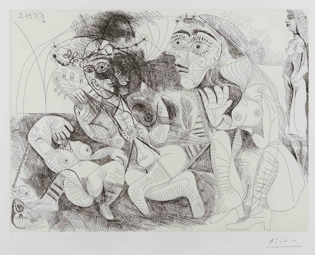 Pablo Picasso, 'Filles Entre Elles- La Recreation en Masque, from the Series 156', 1971, Leslie Sacks Gallery