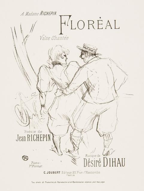 Henri de Toulouse-Lautrec, 'FLORÉAL (Springtime)', 1895-1896, Posters, Original lithograph printed in brown-black ink on Arches wove paper., Christopher-Clark Fine Art