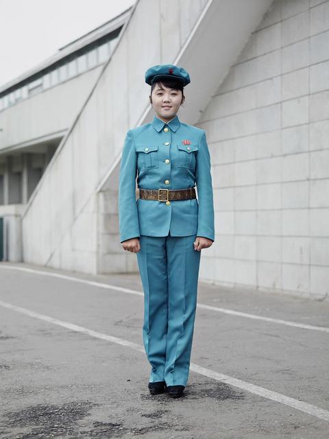 , 'Guard in Blue (Kimjongilia Flower Exhibition Hall, Pyongyang),' 2015, The Ravestijn Gallery