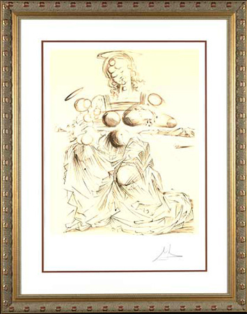 ", '""Disintegrating Mother and Child""    Hand Signed Salvador Dali Lithograph,' 1941-1957, Elena Bulatova Fine Art"