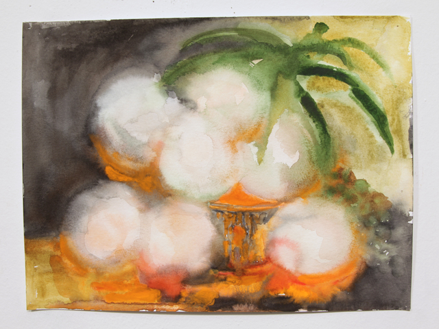 Valerie Hegarty, 'Glowing Peaches in Basket 2', 2015, Malin Gallery