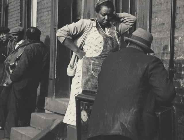 Manuel De Aumente, 'People on Street', ca. 1940-49, Elizabeth Houston Gallery