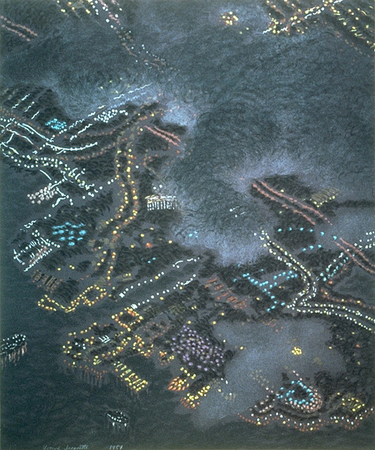 , 'Clouds Obscuring San Diego,' 1987, Crown Point Press