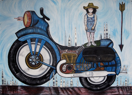 , 'Motorcycle,' 2014, Clark Gallery