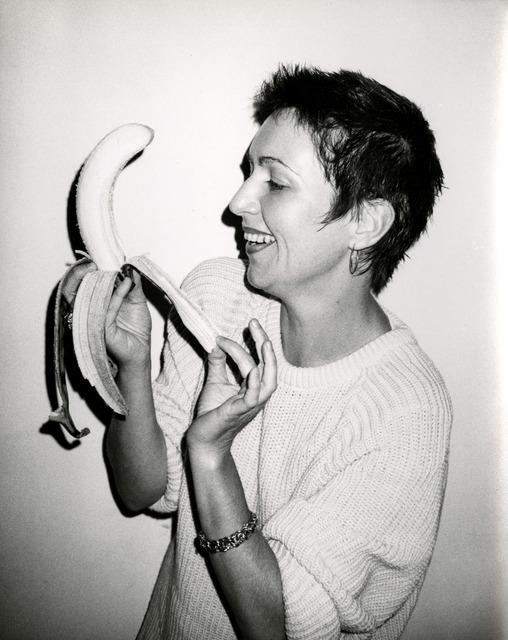 Andy Warhol, 'Pat Hackett Peeling a Banana', 1986, Photography, Silver Gelatin Print, Hedges Projects