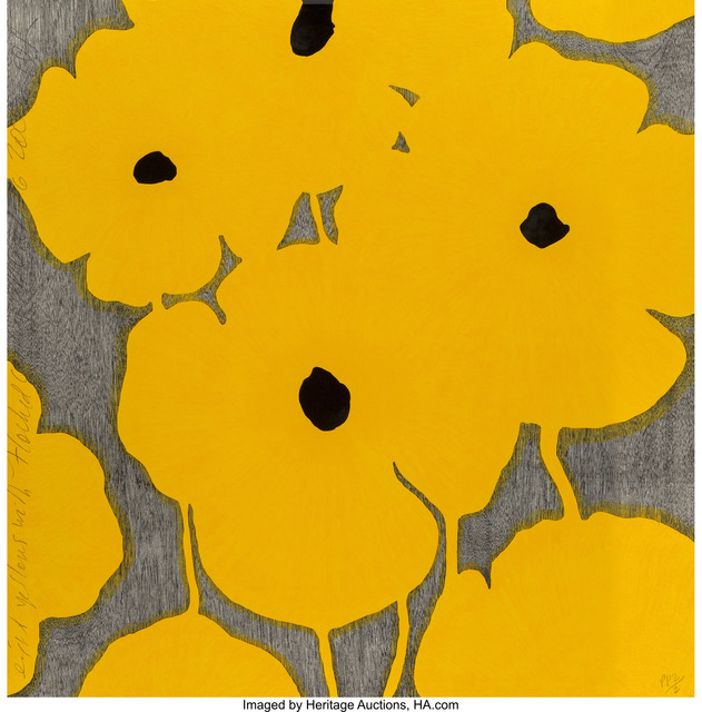 Donald Sultan, 'Light Yellows with Flocked Centers', 2002, Heritage Auctions