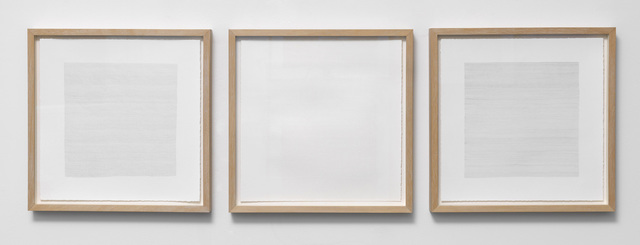 , 'Three drawings metalpoint (for Anselm, for Nagarjuna): mainly mind, mainly empty, mainly body,' 2015, Patrick Heide Contemporary