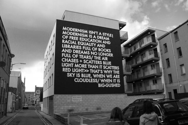 , 'Hammersmith Poem Aberdeen Mural,' 2017, Cob