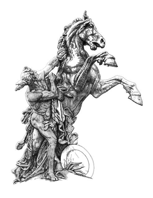Arthur Borisov, 'Sculpture of man taming a rearing horse. Vienna, Austria.', 2015, MvVO ART
