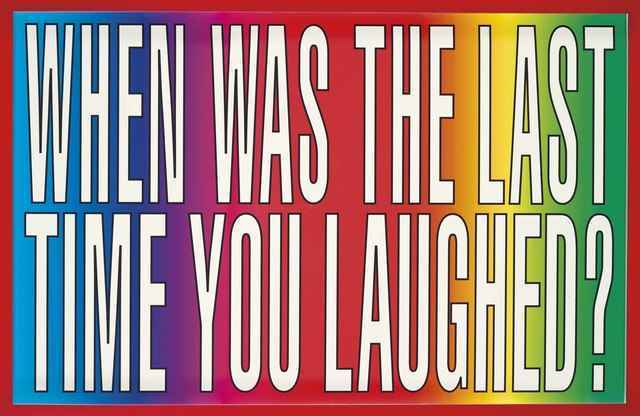 , 'Untitled (When was the last time you laughed?),' 2011, Carolina Nitsch Contemporary Art