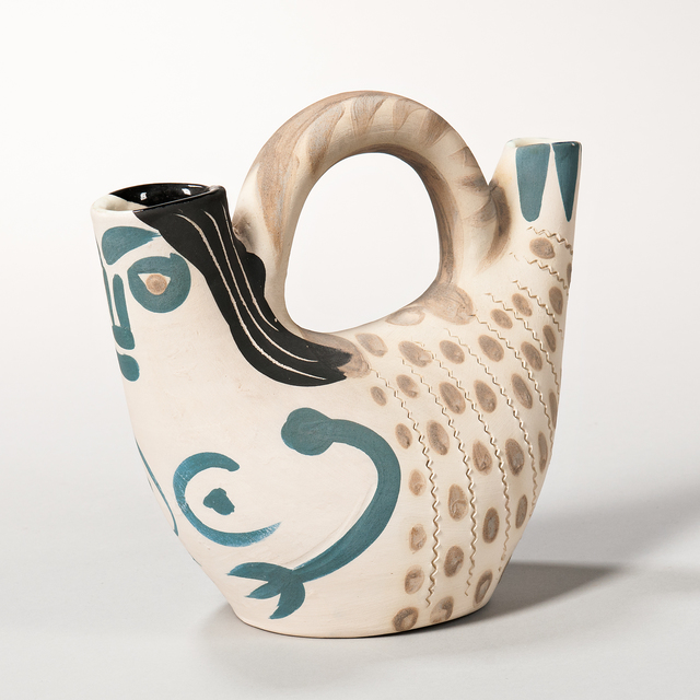 Pablo Picasso, 'Prow Figure', 1952, Design/Decorative Art, Turned white earthenware pitcher with blue, beige, and black, Skinner