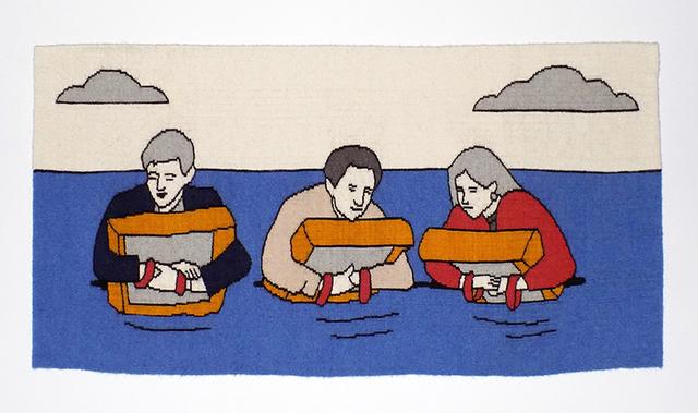 , 'Airline Series: Three Fates Floating,' 2016, Marta Hewett Gallery